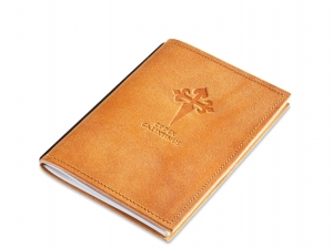 A6 1er leather nature cognac Pilgrim´s diary, 1 inlay (L10)