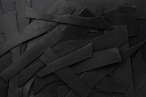 Lederreste Leder Natur schwarz