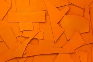Lederreste Leder Glatt orange seidenglänzend