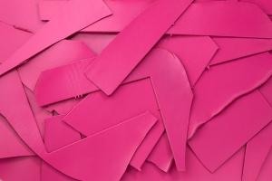 Lederreste Leder Glatt pink seidenglänzend