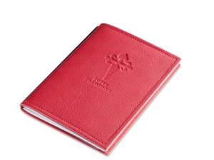 A6 1er leather nature red Pilgrim´s diary, 1 inlay (L20)