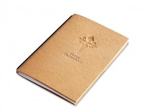 """A6 Pilgertagebuch """"Codex Calixtinus"""" Lefa natur mit Spezialeinlage"""