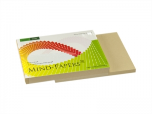 DIN A7 Mind-Papers Nachfüllpack, 100 Karteikarten, Farbe: sandbraun