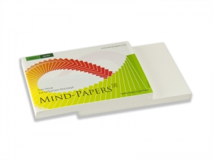 DIN A7 Mind-Papers Nachfüllpack, 100 Karteikarten, Farbe: weiß
