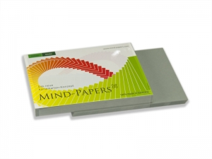 DIN A7 Mind-Papers Nachfüllpack, 100 Karteikarten, Farbe: schiefer