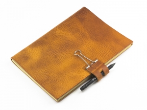 A5 Mind-Papers Leder Natur, cognac