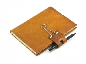 A6 Mind-Papers Natur Leder, cognac