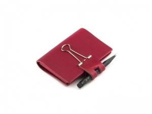 A8 Mind-Papers Leder natur, rot