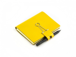 A7 Mind-Papers Leder glatt, gelb
