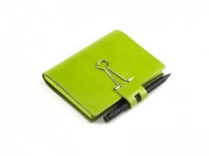 A7 Mind-Papers Leder glatt, grün