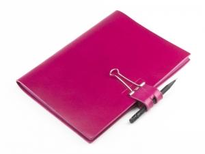 A5 Mind-Papers Leder glatt, magenta