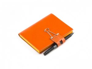 A7 Mind-Papers Leder glatt, orange