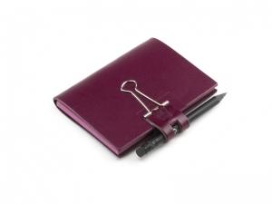 A7 Mind-Papers Leder glatt, violett
