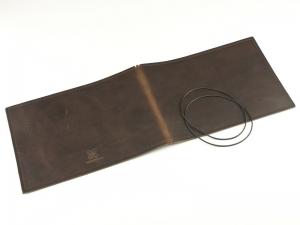 A5+ Quer LeatherSkin 2er Hülle kastanie, vegetabil gegerbt