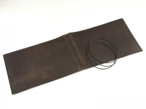A5+ Quer LeatherSkin 3er Hülle kastanie, vegetabil gegerbt