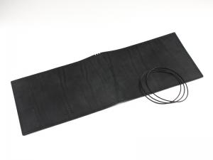 A5+ Quer LeatherSkin 3er Hülle schwarz, vegetabil gegerbt