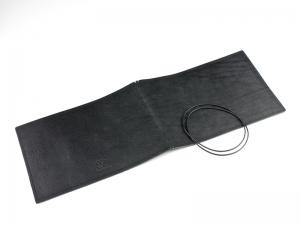 A5+ Quer LeatherSkin 2er Hülle schwarz, vegetabil gegerbt