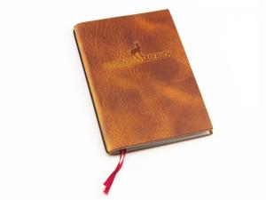 "A6 ""Bergwandertagebuch"" Leder Natur cognac"