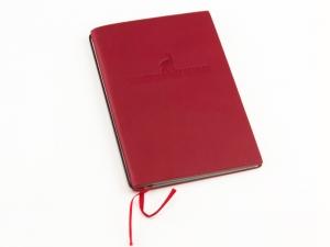 "A6 ""Bergwandertagebuch"" Leder natur rot"