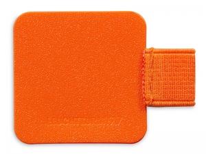 Porte-stylo autocollant orange