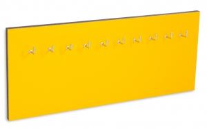 X17 Schlüsselbrett 10er Lefa gelb