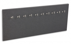 X17 Schlüsselbrett 10er Lefa graphit