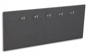 X17 Schlüsselbrett 5er Lefa graphit