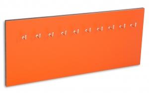 X17 Schlüsselbrett 10er Lefa orange