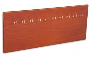 X17 Schlüsselbrett Leder Natur mit 5 oder 10 Haken