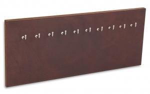 X17 Schlüsselbrett 10er Leder Natur kastanie mit Ziernaht