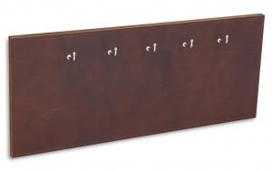X17 Schlüsselbrett 5er Leder Natur kastanie mit Ziernaht