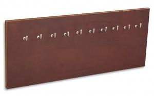 X17 Schlüsselbrett 10er Leder Natur marone