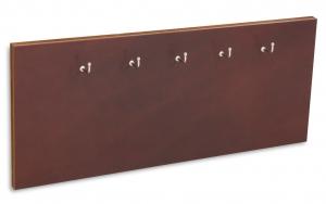 X17 Schlüsselbrett 5 Leder Natur marone