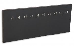X17 Schlüsselbrett 10er Leder Natur schwarz mit Ziernaht