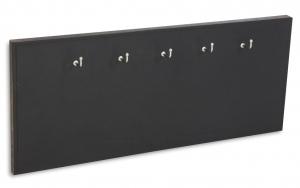 X17 Schlüsselbrett 5er Leder Natur schwarz mit Ziernaht