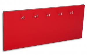X17 Schlüsselbrett 5er Leder glatt rot mit Ziernaht