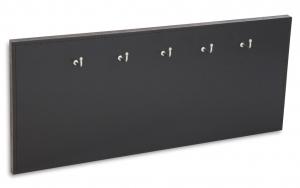 X17 Schlüsselbrett 5 Leder glatt schwarz mit Ziernaht