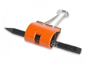 Sloop 40 mm Leder glatt, orange