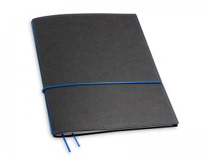 A4+ 1er Texon schwarz / Blau mit 1 x Notizen und Doppeltasche
