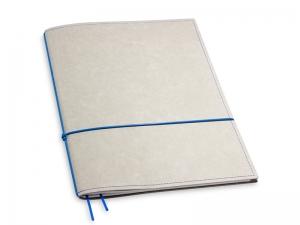 A4+ 1er Texon stone / blau mit 1 x Notizen und Doppeltasche