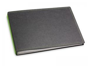 A5+ Quer 3er Texon schwarz/grün mit Kalender 2021