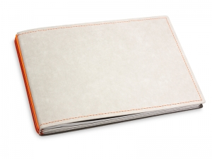 A5+ Quer 3er Texon stone/orange mit Kalender 2021