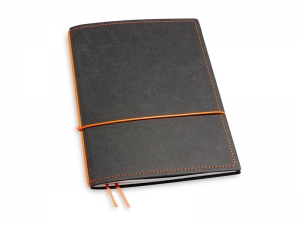 A5 1er Notizbuch Texon schwarz / orange