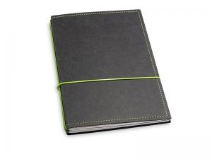 A5 2er Notizbuch Texon schwarz / grün, Notizenmix