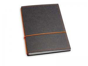 A5 2er Notizbuch Texon schwarz / orange, Notizenmix