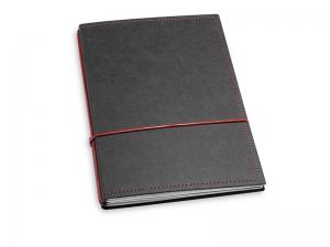 A5 2er Notizbuch Texon schwarz / rot, Notizenmix