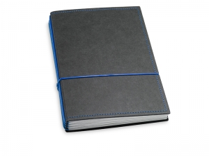 A5 4er Notizbuch Texon schwarz / blau, Notizenmix