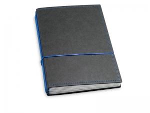 A5 4er Texon schwarz/blau mit Kalender 2020 - 2021 und 2 x Notizen