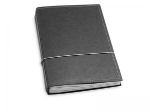 A5 4er Texon schwarz/grau mit Kalender 2020 - 2021 und 2 x Notizen