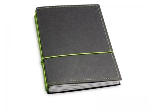 A5 4er Texon schwarz/grün mit Kalender 2020 - 2021 und 2 x Notizen